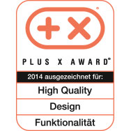 Plus X Award - High Quality - Design - Funktionalität - 2014